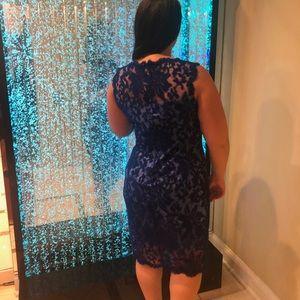 Tadashi blue lace dress